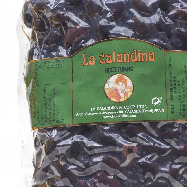 Aceituna negra de Aragón de aderezo de la variedad empeltre