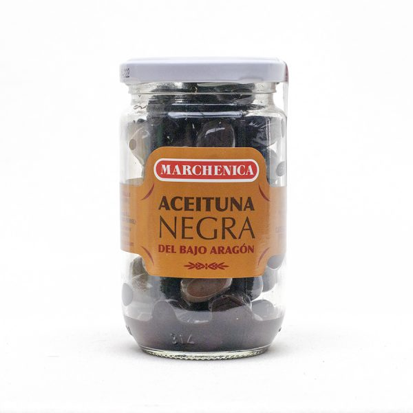 aceituna negra Aragón envase cristal