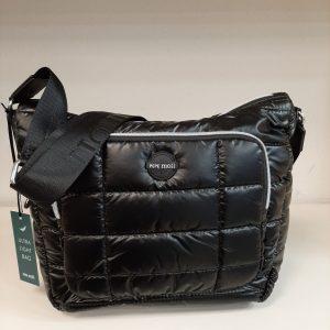 Bolso acolchado en neopreno color negro