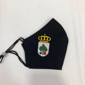 MASCARILLA-HOMOLOGADA-NEGRA-ESCUDO-CALANDA-CHUNI